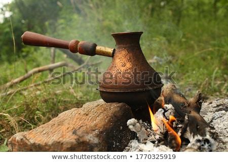 vintage copper pitcher Stock photo © Digifoodstock