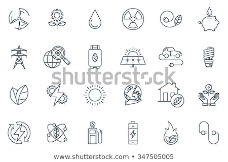 Wind power line icon. Stock photo © RAStudio