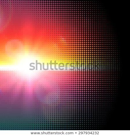 vector halftone mosaic with sun flares and bokeh stock photo © swillskill