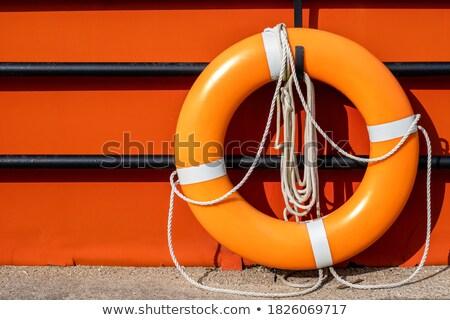 оранжевый забор жизни кольца подвесной Сток-фото © Fisher