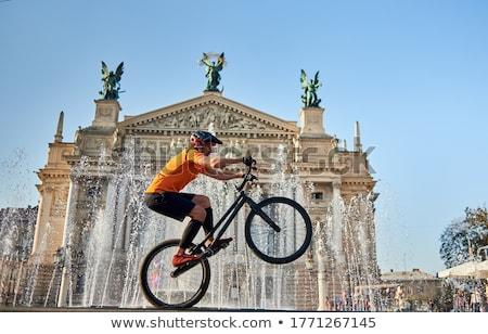 católico · igreja · centro · cidade · viajar · nuvem - foto stock © bezikus