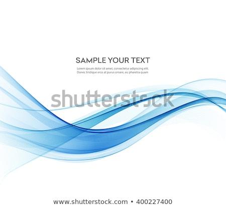 Modernen abstrakten blau line Welle Hintergrund Stock foto © SArts