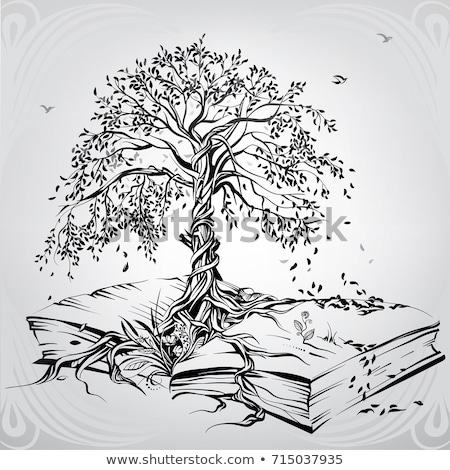 Ecology info graphics modern design,  green tree and opened book Stock photo © Andrei_
