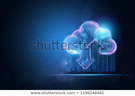 Tabletta internet hálózat felhő alkalmazás ikonok Stock fotó © Andrei_