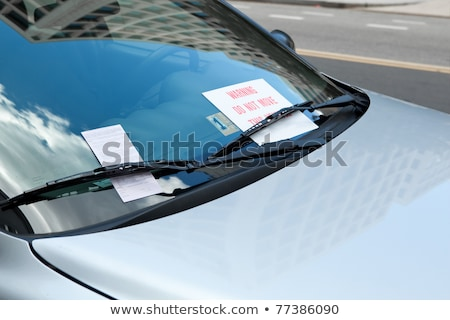 Washington DC parkeren ticket auto windscherm Stockfoto © Qingwa