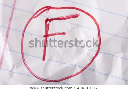 Failing grade wrinkled Stock photo © icemanj