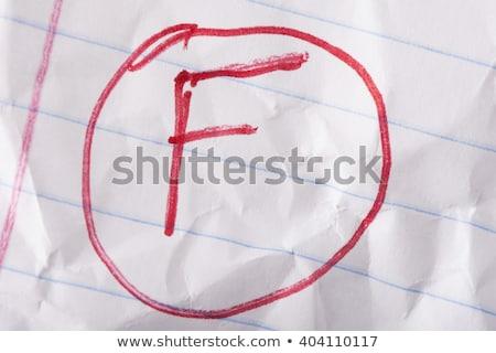 escrito · vermelho · caneta · caderno · papel - foto stock © icemanj