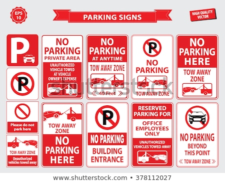 Reserved Parking sign Stock photo © unkreatives