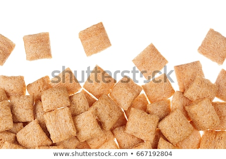 Stock photo: Golden Pads Corn Flakes Isolated With Copy Space Background Cereals Texture