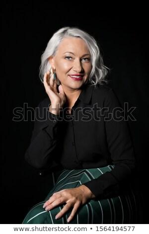 Modello posa nero ritratto Foto d'archivio © julenochek