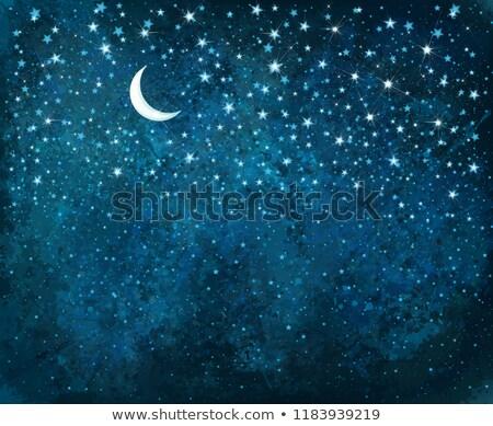 Maan bokeh Galaxy sterren hemel fantastisch Stockfoto © ixstudio