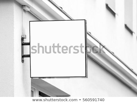 Square signboard on the wall Stock photo © magraphics