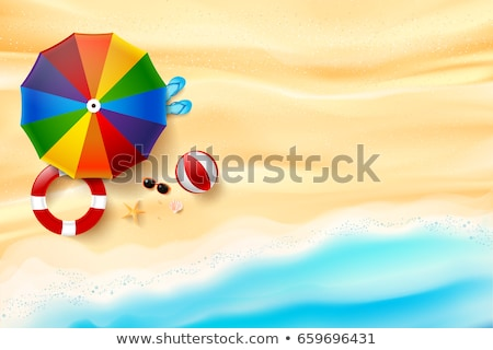 Sandigen Vektor top Ansicht Sandstrand Wüste Stock foto © pikepicture