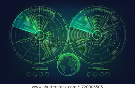 Radar Screen Vector. Digital Screen With World Map. Futuristic Background. Stock photo © pikepicture