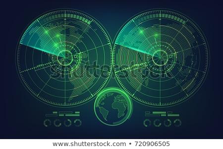 verde · radar · tela · branco · vetor · computador - foto stock © pikepicture
