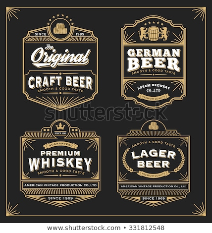 Vintage frame label for whiskey and beverage product Stock photo © reftel