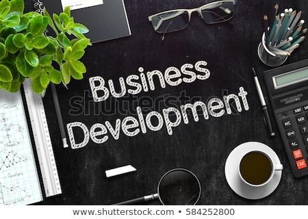 развивающийся бизнеса черный доске 3D Сток-фото © tashatuvango