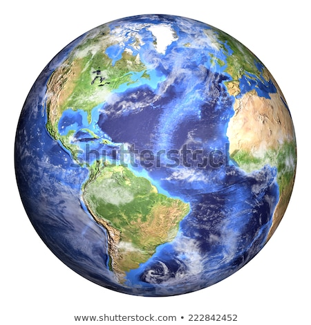 Earth globe white isolated Stock photo © ixstudio