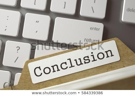 Index Card with Conclusion. 3D. Stock photo © tashatuvango
