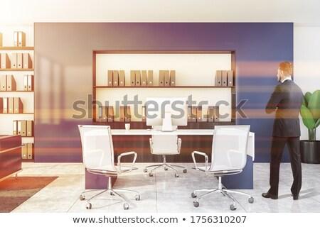 Professionals on Black Office Folder. Toned Image. Stock photo © tashatuvango
