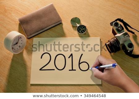 Business Goals 2016 - Cartoon Yellow Text. Business Concept. Stock photo © tashatuvango