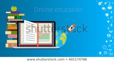 Estudiante intercambio programa negocios bocadillo garabato Foto stock © tashatuvango