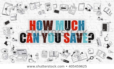 how much can you save on white brick wall stock photo © tashatuvango