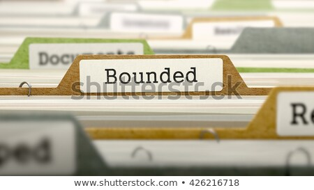 Confined on Business Folder in Catalog. Stock photo © tashatuvango