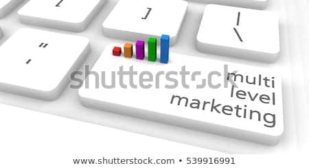 3D · mlm · botão · ilustração · 3d · nível · marketing - foto stock © tashatuvango