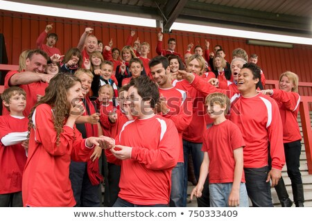 Marriage proposal at football match Stock photo © IS2