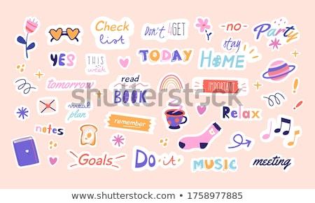 daily planner set stock photo © milsiart