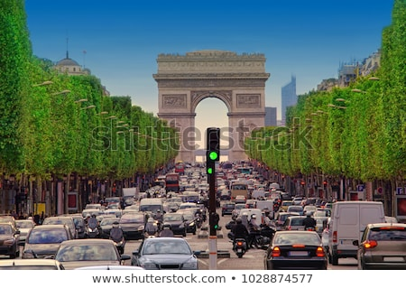 Traffic on Champs Elysee Stock photo © Givaga