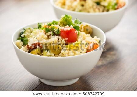 couscous, semolina and vegetable Stock photo © M-studio