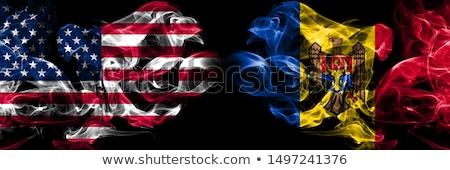 Fútbol llamas bandera Moldavia negro 3d Foto stock © MikhailMishchenko