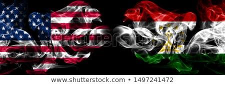 футбола пламя флаг Таджикистан черный 3d иллюстрации Сток-фото © MikhailMishchenko
