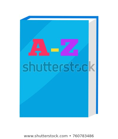 ABC Book in Blue Hard Cover Vector Illustration Stock photo © robuart