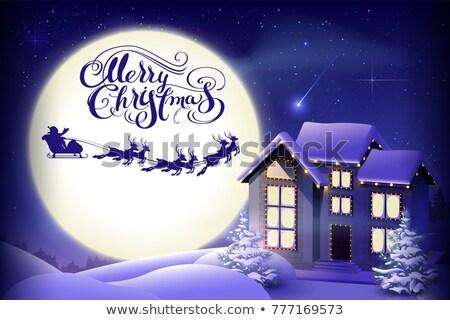 陽気な クリスマス 書道 文字 グリーティングカード サンタクロース ストックフォト © orensila