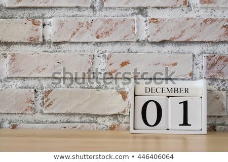 dicembre · 3D · rosso · lettere · inverno - foto d'archivio © oakozhan