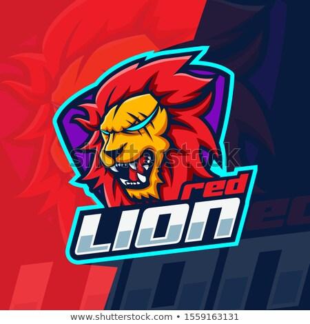 Lion Gamer Player Mascot Stock photo © Krisdog