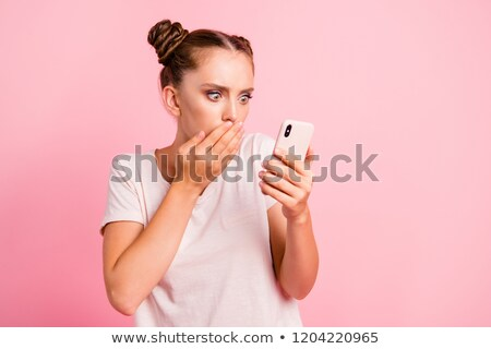Portrait Of Teenage Girl Looking Shocked Stock photo © monkey_business