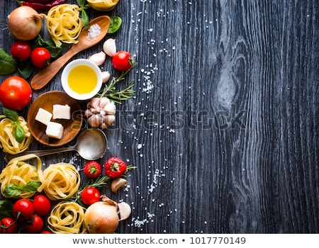 top view of all the necessary food component to make a classic i stock photo © davidarts