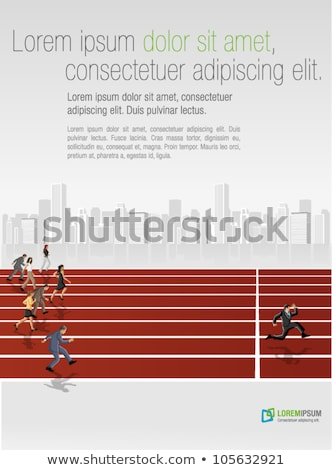 businessman sprinting on running track Stock photo © IS2