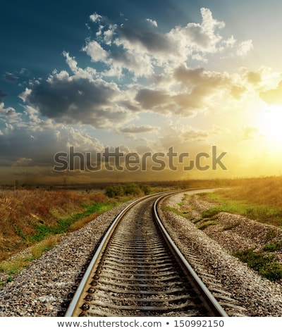 background scene with train on the track stock photo © bluering