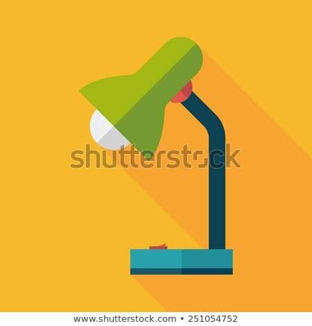 Adjustable desk light lamp icon in flat style Stock photo © studioworkstock