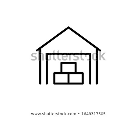 warehouse forklift cart in flat style stock photo © studioworkstock