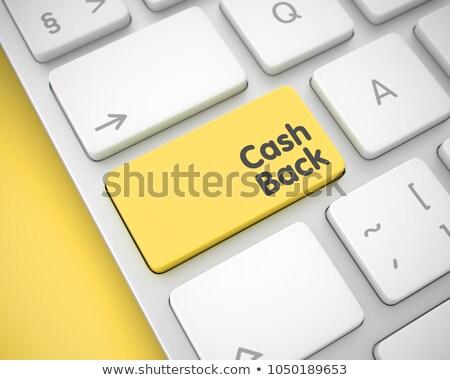 Cash Back - Message on the Yellow Keyboard Button. 3D. Stock photo © tashatuvango