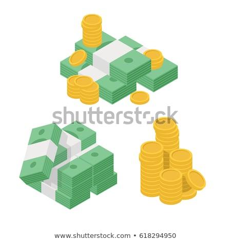 Geld isometrische icon geïsoleerd kleur vector Stockfoto © sidmay