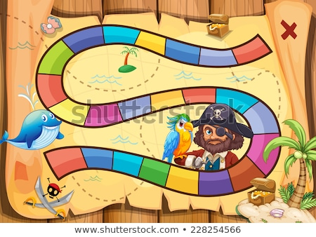 pirate game with island scene stock photo © bluering