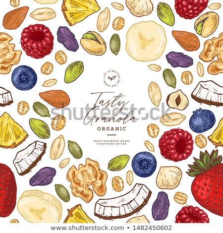 Granola secado frutas alimentos tuerca comida Foto stock © M-studio