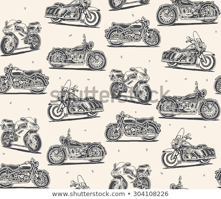 Gép bicikli minta végtelenített motor motorkerékpár Stock fotó © popaukropa